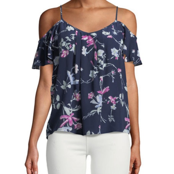 88179e3bc2f49 Joie Adorlee Floral Cold-Shoulder Blouse NWT SzS
